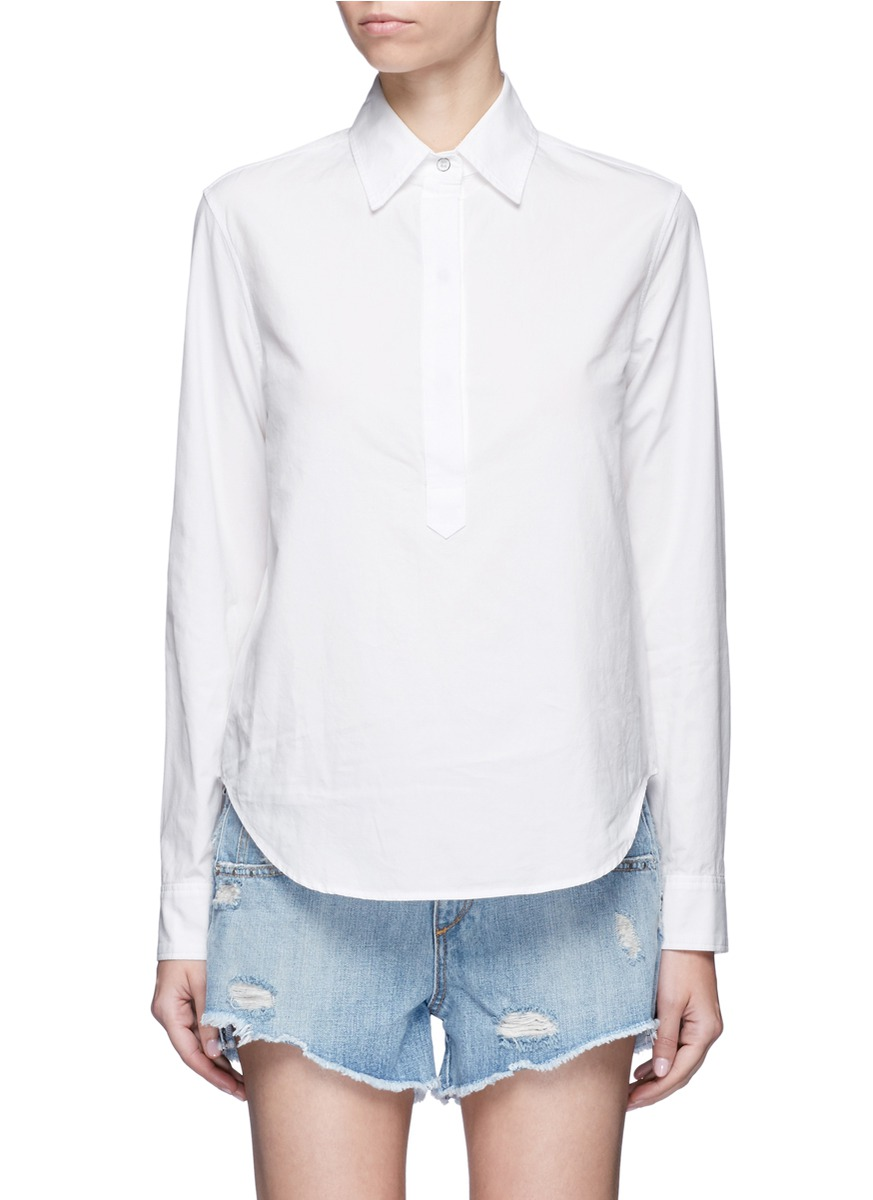 Leeds button back shirt by rag & bone/JEAN