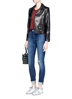 rag & bone/JEAN'Dive' high waist distressed skinny jeans
