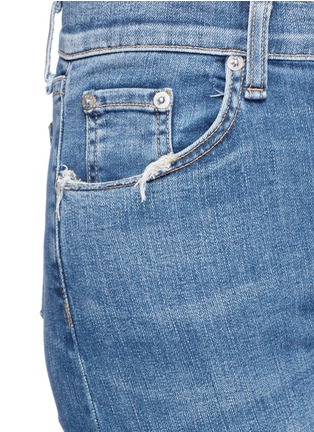 Detail View - Click To Enlarge - rag & bone/JEAN - Distressed knee cropped flared jeans