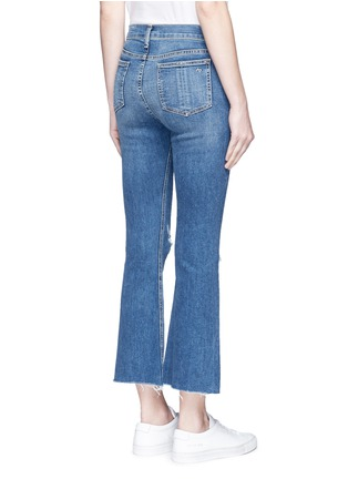 Back View - Click To Enlarge - rag & bone/JEAN - Distressed knee cropped flared jeans
