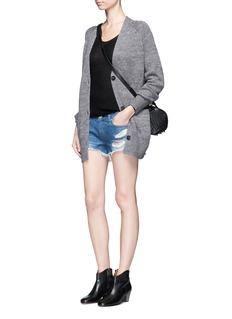rag & bone/JEAN'Cut Off' distressed denim shorts