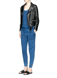 rag & bone/JEAN Cotton jersey jumpsuit