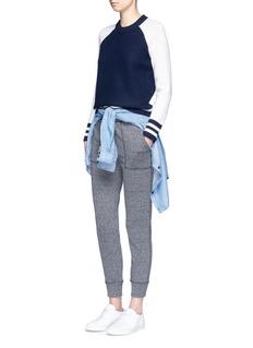 rag & bone/JEAN'Jana' colourblock Merino wool varsity sweater