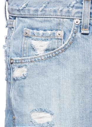Detail View - Click To Enlarge - rag & bone/JEAN - 'Boyfriend' distressed denim shorts