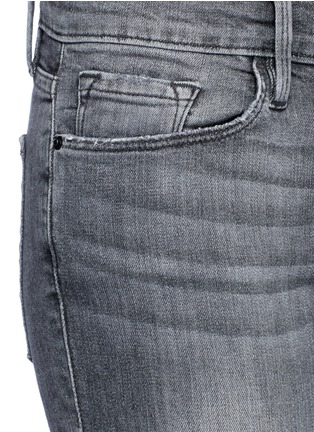 Detail View - Click To Enlarge - Frame Denim - 'Le Skinny de Jeanne' two-tone frayed cuff jeans