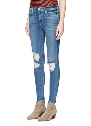 Front View - Click To Enlarge - Frame Denim - 'Le High Skinny' distressed cropped jeans