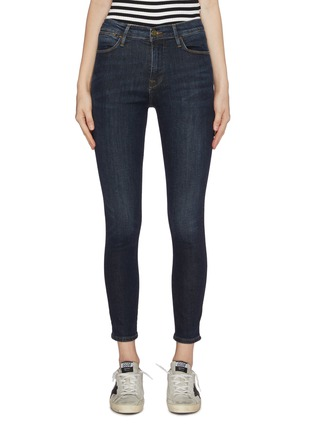 Main View - Click To Enlarge - Frame Denim - 'Le High Skinny' distressed cropped jeans