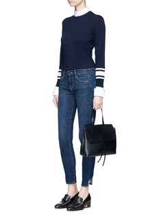 Frame Denim 'Le Skinny de Jeanne' staggered cuff cropped jeans