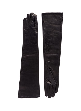 Main View - Click To Enlarge - Ms MIN - Long sheepskin leather gloves