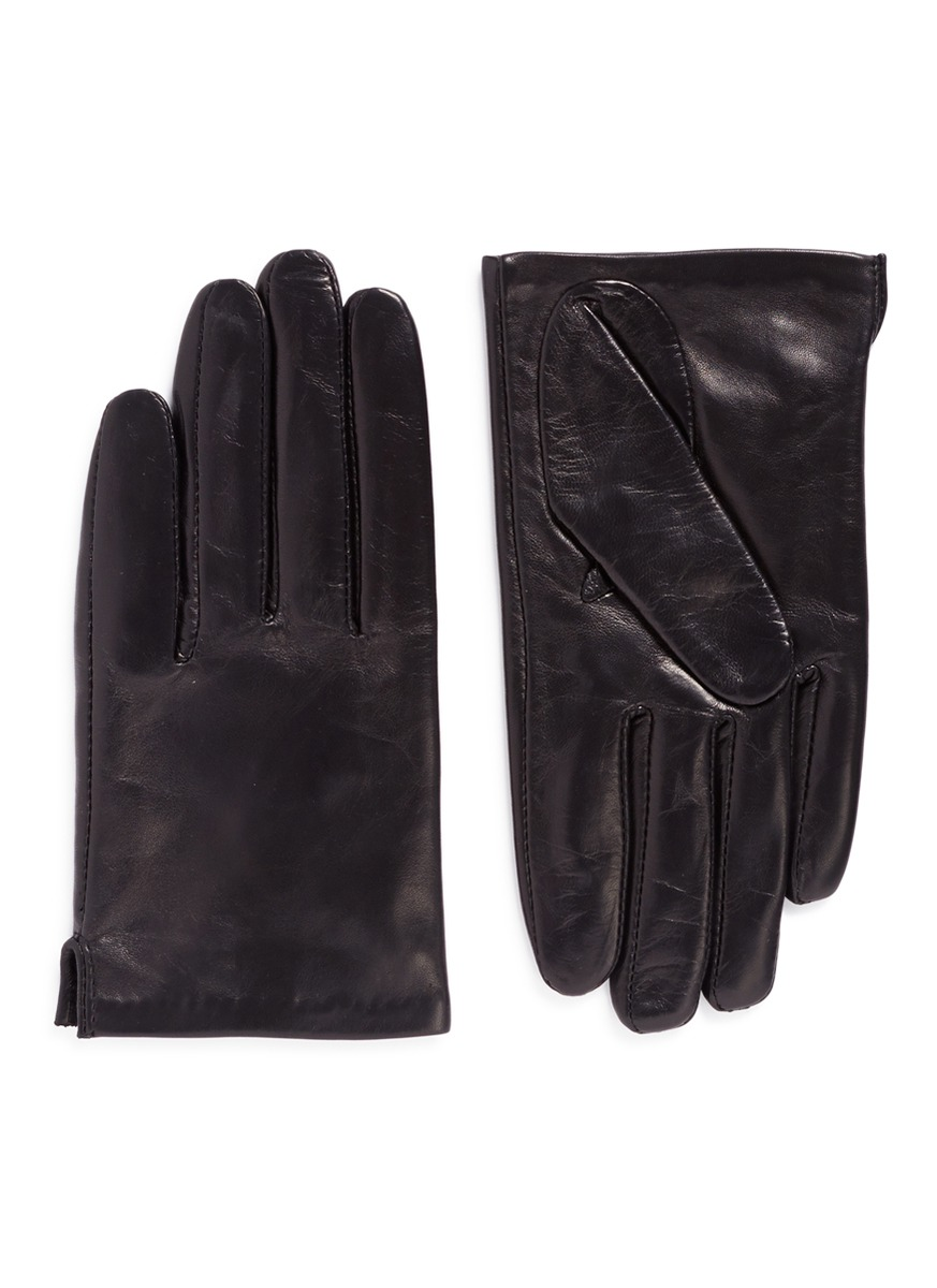 Short lambskin leather gloves by Ms MIN
