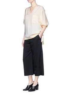 Ms MIN Skirt back overlay wool twill culottes