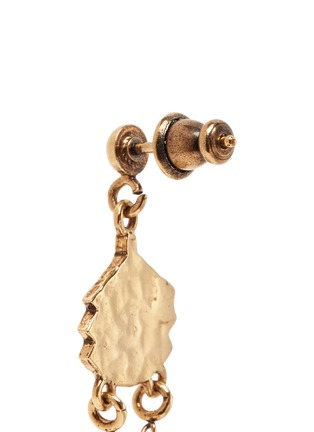 Detail View - Click To Enlarge - Chloé - 'Layton' asymmetric pendant drop earrings