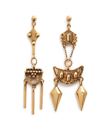 Main View - Click To Enlarge - Chloé - 'Layton' asymmetric pendant drop earrings