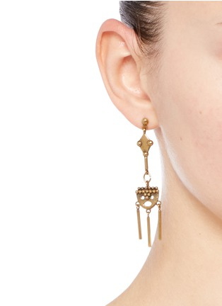 Figure View - Click To Enlarge - Chloé - 'Layton' asymmetric pendant drop earrings