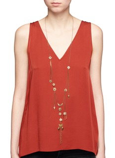 Chloé'Layton' talisman charm brass necklace