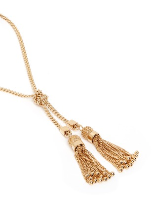 Chloé - 'Lynn' chain tassel brass necklace
