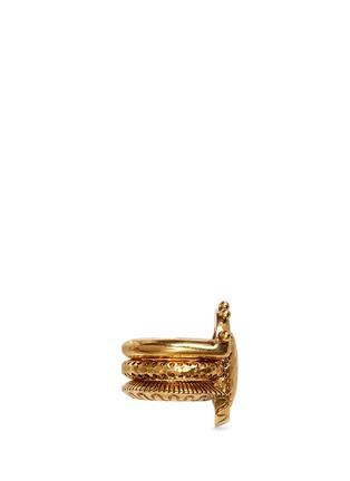 Figure View - Click To Enlarge - Chloé - 'Lyzbeth' brass three ring set
