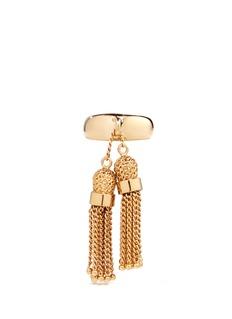 Chloé'Lynn' chain tassel charm brass ring