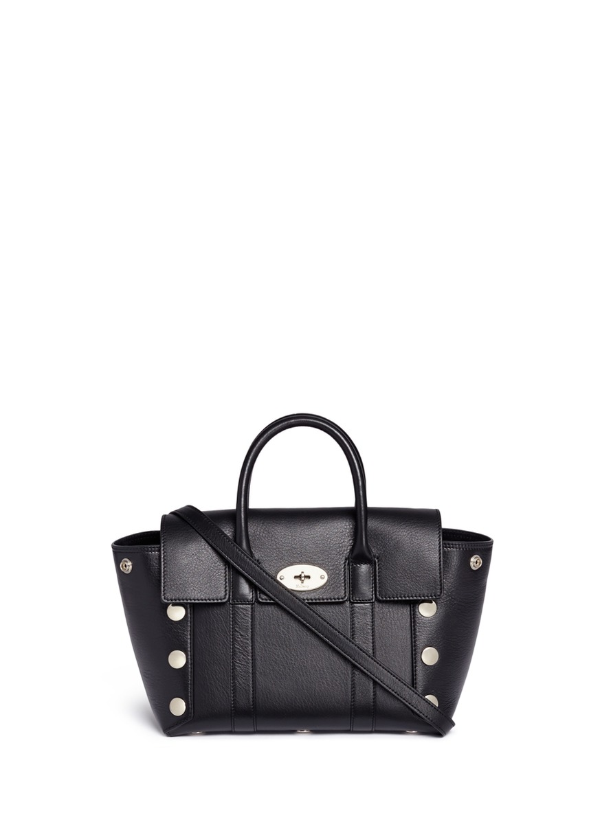 Small New Bayswater stud leather tote by Mulberry
