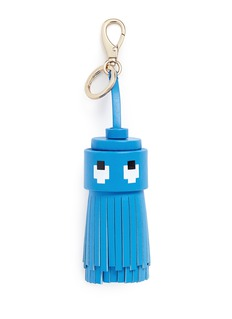 Anya Hindmarch'Ghost' character tassel leather keyring