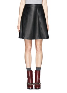 RAG & BONE'Gayle' flare leather skirt