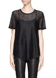 EQUIPMENT 'Riley' floral lace T-shirt