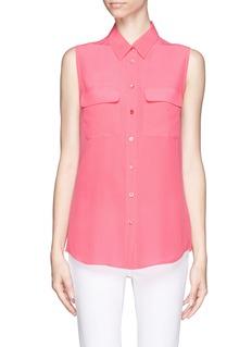 EQUIPMENTSleeveless signature plain shirt