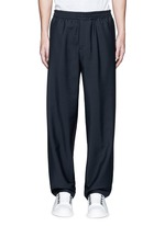 Relaxed fit seamless wool-Mohair jogging pants