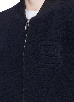 Detail View - Click To Enlarge - Balenciaga - Shearling front bomber jacket