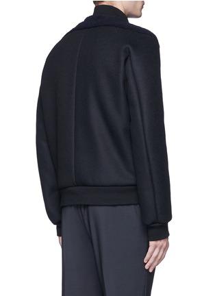 Back View - Click To Enlarge - Balenciaga - Shearling front bomber jacket