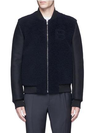 Main View - Click To Enlarge - Balenciaga - Shearling front bomber jacket