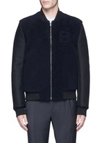 Shearling front bomber jacket