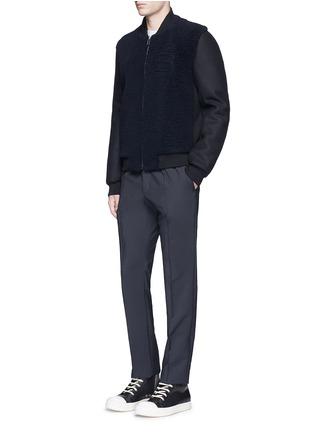 Figure View - Click To Enlarge - Balenciaga - Shearling front bomber jacket