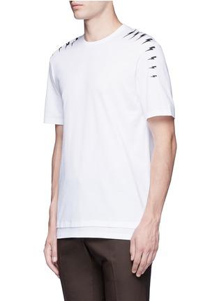 Neil Barrett-Thunderbolt print T-shirt