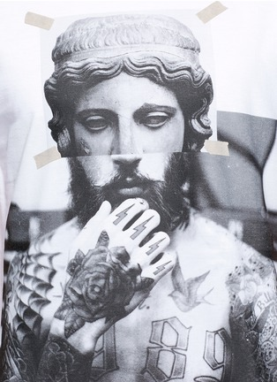 Detail View - Click To Enlarge - Neil Barrett - 'Tattoo Sculpture' print T-shirt