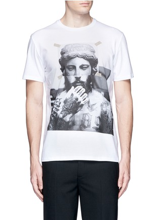 Main View - Click To Enlarge - Neil Barrett - 'Tattoo Sculpture' print T-shirt