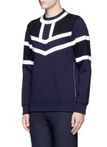 Tricolour panelled side zip sweatshirt