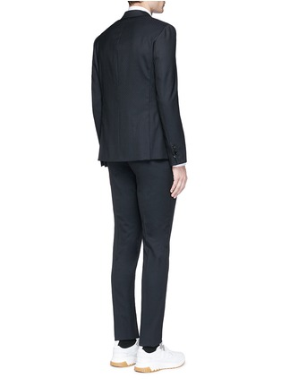 Back View - Click To Enlarge - Neil Barrett - Slim fit diamond jacquard chalk stripe wool suit