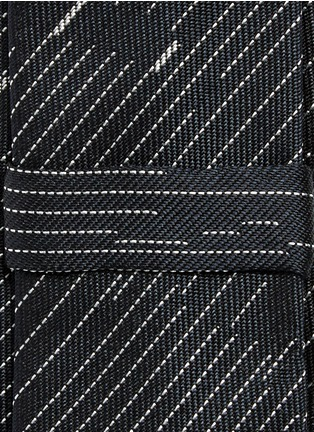 Detail View - Click To Enlarge - Neil Barrett - Camouflage pinstripe silk tie