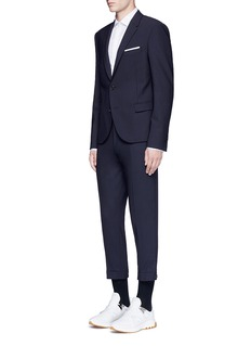 Neil Barrett Slim fit bistretch gabardine blazer