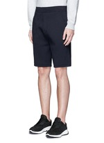 Thunderbolt embroidery bonded jersey shorts