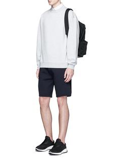 Neil BarrettThunderbolt embroidery bonded jersey shorts