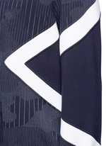 Camouflage pinstripe panelled sweatshirt