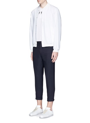 Figure View - Click To Enlarge - Neil Barrett - Adjustable zip cuff bistretch gabardine pants