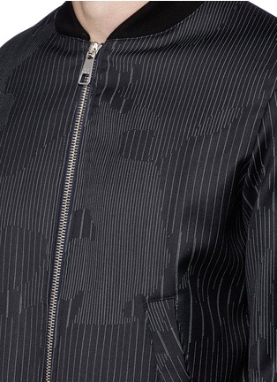 Detail View - Click To Enlarge - Neil Barrett - Camouflage pinstripe bomber jacket