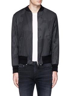 Neil BarrettCamouflage pinstripe bomber jacket