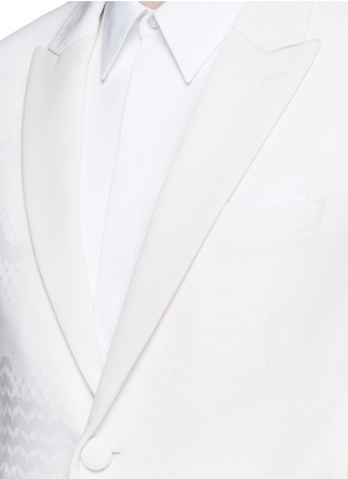 Detail View - Click To Enlarge - Neil Barrett - Keffiyah wave camouflage virgin wool tuxedo blazer