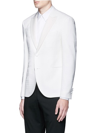 Front View - Click To Enlarge - Neil Barrett - Keffiyah wave camouflage virgin wool tuxedo blazer