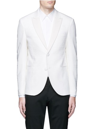 Main View - Click To Enlarge - Neil Barrett - Keffiyah wave camouflage virgin wool tuxedo blazer