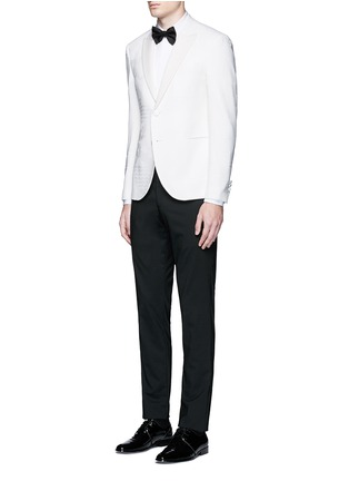 Figure View - Click To Enlarge - Neil Barrett - Keffiyah wave camouflage virgin wool tuxedo blazer